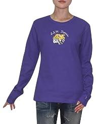 NCAA LSU Tigers Femme Slim Fit Long Sleeve Shirt (Vintage Look)
