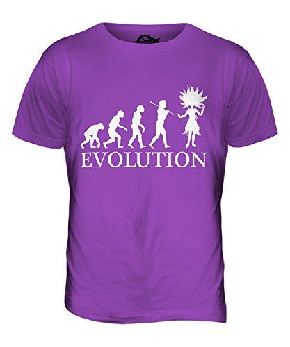 CandyMix Samba Tanz Evolution Des Menschen Herren T Shirt Violett