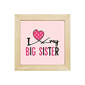 YaYa Cafe™ 8x8 Inches Birthday Brother, Desk Clock I Love My Big Sister Canvas Rakhi