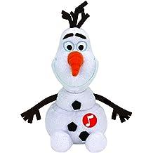 Frozen - Olaf, peluche con sonido, 15 cm, color blanco (TY 41148TY)