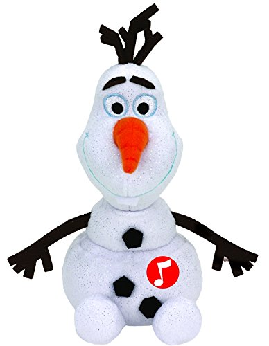 TY 41148 - Plüschtier - Disney die Eiskönigin - Olaf Glitter mit Sound, 20 ()