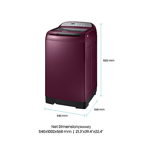 Samsung 7 kg Fully-Automatic Top Loading Washing Machine (WA70M4000HP/TL, Plum)