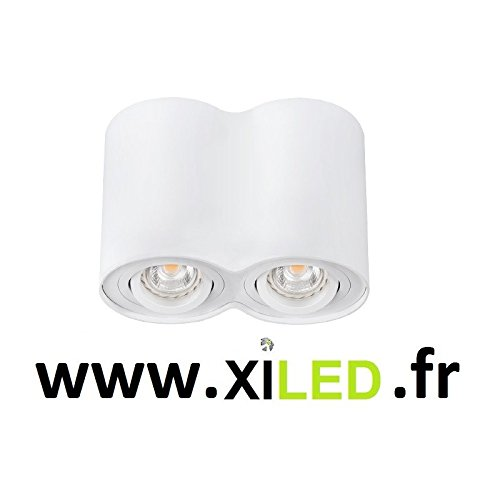 Luminaire orientable double - Finition - Blanc
