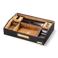 Real Madrid -Premium European Leather- DeluxeDesk Valet Tray Organiser -Handmade-. RMJ-80017P