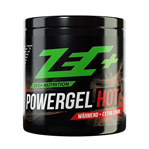 ZEC+ Powergel Hot - 500 ml wärmendes Sportgel, Recovery-Gel für Bodybuilding, Kraftsport und nach intensiven Workouts, mit Kampfer und natürlichen Extrakten, Made in Germany