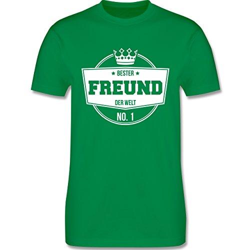 Shirtracer Typisch Männer - Bester Freund der Welt - Herren T-Shirt Rundhals Grün