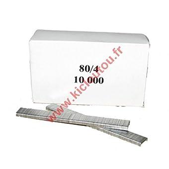 Agrafes 80 - 4mm Galva - Boite de 10000