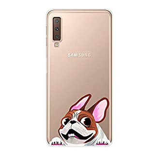 Aksuo for Samsung Galaxy A7 2018 Slim Shockproof Case, Exquisite Pattern Design Clear Bumper TPU Soft Flexible Rubber Silicone Skin Back Cover - Q-Samsung Galaxy A7 2018-62
