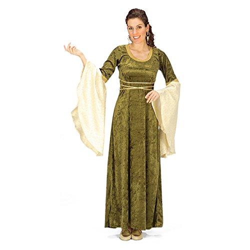 Elbin - Kostüm, Mittelaltergewand mit Trompetenärmeln und Taillenband, Fee, samtig, Kostüm - 44/46 (Saruman Kostüm)