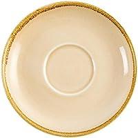 Olympia horno gp333arena platillo para taza de café, porcelana, 160mm de diámetro, crema (Pack de 6)