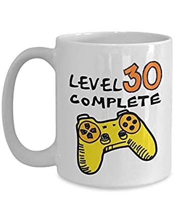 30th Birthday Mugs for Men Funny 11 Oz - Level ...