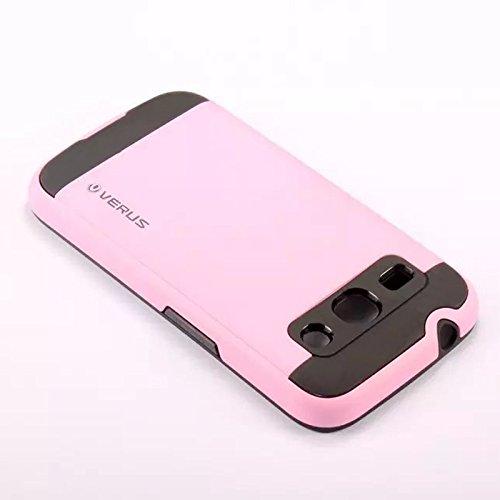 CaseFirst Custodia for Galaxy Core Plus G350, Cover Rimovibile [TPU + PC] [Wire-Drawing] [Dual Layer] Custodia Sottile [Radiazione Termica] Slim Cover Protezione per Galaxy Core Plus (Rosa)