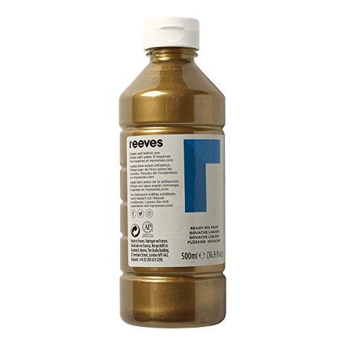 Reeves 4551078 Ready Mix Flasche, 500ml, flüssige Tempera der Spitzenklasse, intensive Farbe - bronze