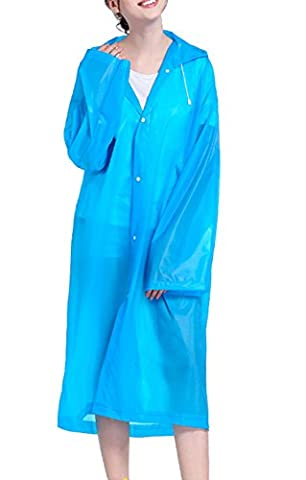 Thickening adult conjoined raincoat, Morbuy fashionable environmental protection raincoat, travel, outdoor, light waterproof raincoat. (blue)