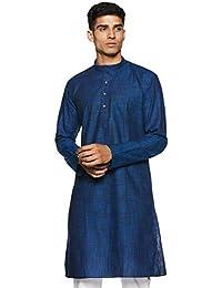 Manyavar Men's Full Sleeve Knee-Long Blended Kurta (ML11768)