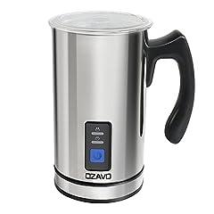 Idea Regalo - OZAVO Montalatte Elettrico Montalatte Automaticoin Acciaio Inossidabile Controllo Temperatura Schiuma per Latte e Caffè Calda e Fredda