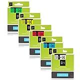 Labelwell Ersatz 19mm x7m DYMO D1 45803 45806 45807 45808 45809 Schwarz auf Transparent Selbstklebend Etikettenband für Dymo LabelManager 360D 420P 450D 500TS PNP Wireless LabelWriter 450 DUO