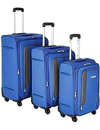 Amazon Brand - Solimo Softsided Suitcase Set with Wheels, 78 cm + 68cm + 58cm