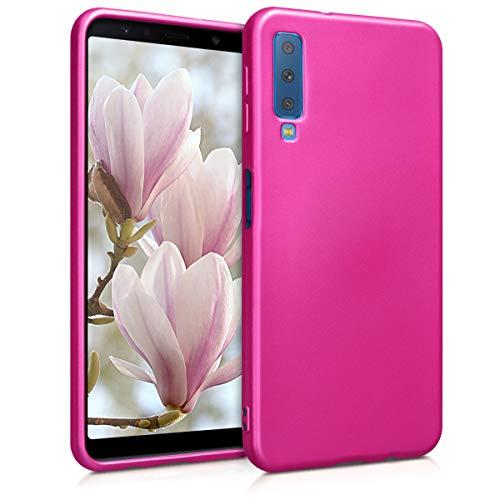 kwmobile Samsung Galaxy A7 (2018) Hülle - Handyhülle für Samsung Galaxy A7 (2018) - Handy Case in Metallic Pink