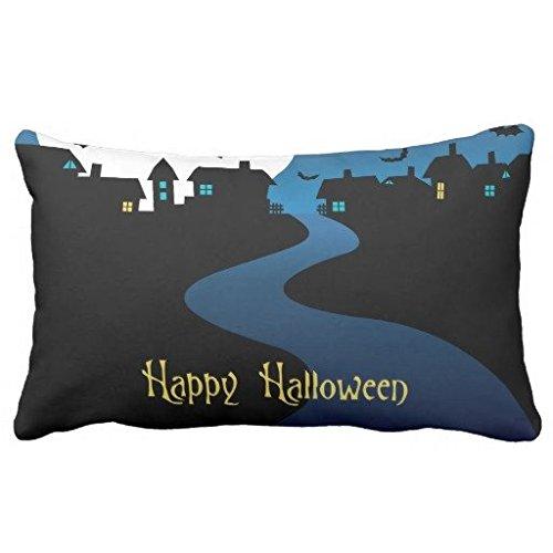 Louisa Maxine schwarz Vector Halloween Night Karte von Dragon Art (2) Kissenbezüge Kissen Schutzhülle Standard Größe Twin Seiten, Polyester, multi, 20x36 inch