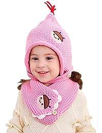 Preisvergleich für zyyaxky Kindermütze Jungen Und Mädchen Baby Mütze Schal Winter Warm Plus Velvet Lätzchen Set 2-10 Jahre Alt, 1