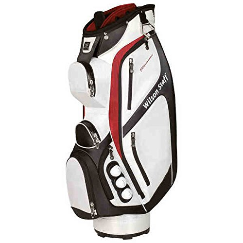 Wilson Staff Herren Golfbags W/S Performance Cart WHBLRD, Weiß, 40 x 40 x 90 cm, 1 Liter, WGB4401WH