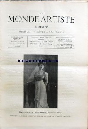 MONDE ARTISTE ILLUSTRE (LE) [No 24] du 12/06/1909 ...