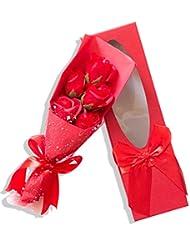 Neue 24 Stücke Rote Rose Duftenden Bad-seifen-rosen-blumenblatt In Herz-kasten Reiniger Schönheit & Gesundheit