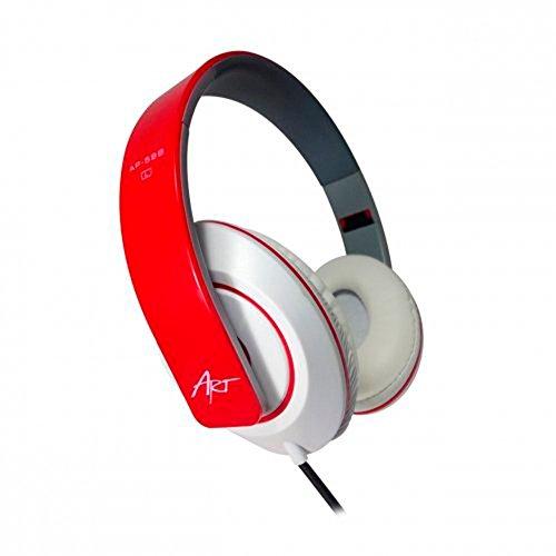 handy-point Universell 3,5mm MULTIMEDIA Stereo Kopfhörer mit Mikrofon und Lautstärkeregler, passend zu den meisten Handys, Smartphones (Rot/Weiss - Kopfhörer) -