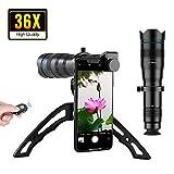 APEXEL Handy-Kameraobjektiv-Kit, hochwertiges 36X Teleobjektiv-Kit mit Mini-Stativ für iPhone X/XR/XS, Samsung Galaxy Huawei und die meisten Smartphones
