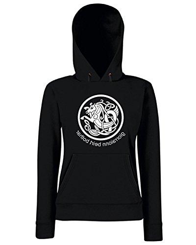T-Shirtshock - Sweats a capuche Femme T0110 CAVALLO CELTIC religioni celtic Noir