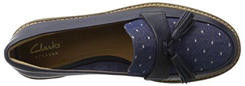 Clarks Damen Glick Castine Mokassin Blau (Navy Leather)