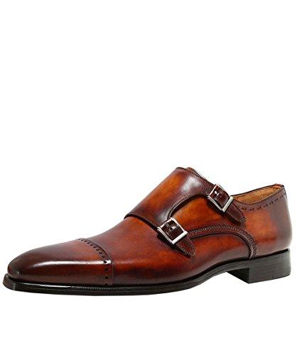 25c74f24733 Magnanni Herren Donner doppelte Mönch-Riemen-Schuhe Cognac UK 9