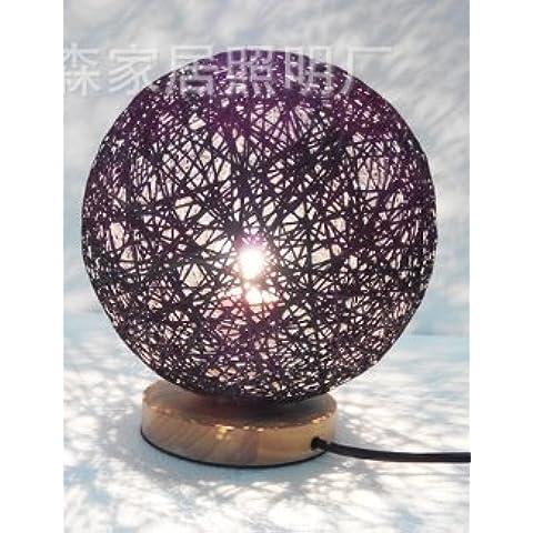 Lampade da comodino di rattan sfera decorativa