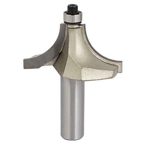 uxcell a16051700ux00621/5,1cm Schaft Dia 3/10,2cm Radius 2-flute rund über aufreihmaterialien Einfassung Router Bit Cutter, (Bit Router Flute)