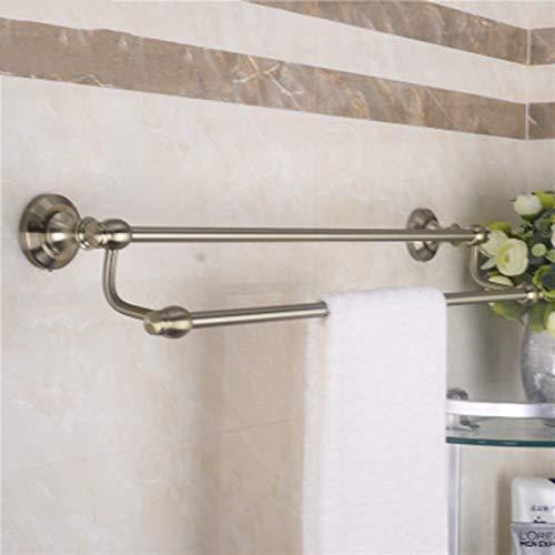Porte-serviettes Espace Aluminium Vert Bronze Porte-serviettes Double pendentif Matériel de salle de bains