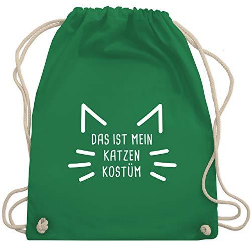 Karneval & Fasching - Das ist mein Katzen Kostüm - Unisize - Grün - WM110 - Turnbeutel & Gym Bag