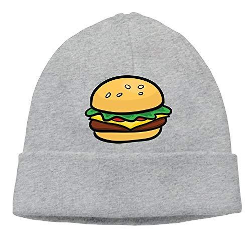 Preisvergleich Produktbild Männer Frauen Cartoon Hamburger Stretchy Warm Daily Beanie Hat Skull Cap Winter Outdoor (Einheitsgröße)
