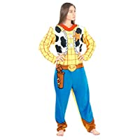 Briefly Stated Toy Story Sheriff Woody Union Suit Costume Pajama (Adult Medium)