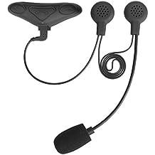 Avantree Kit Intercomunicador Bluetooth IMPERMEABLE para Casco de Moto, Auriculares Manos Libres Inalámbricos con Interfono y GPS para Moto - HM100PQ