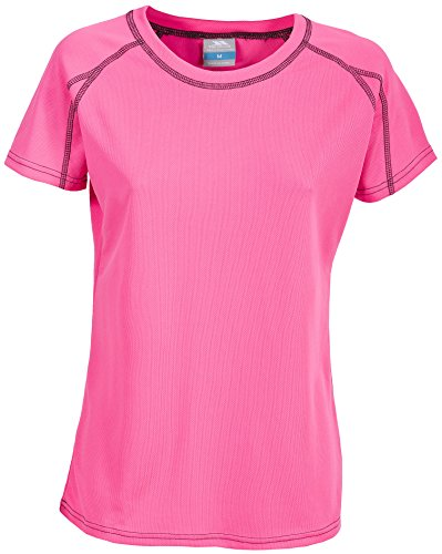 Trespass Mamo, Hi Visibility Pink, XS, Schnelltrocknendes Sport T-Shirt für Kinder / Jugendliche / Mädchen 10-17 Jahre, X-Small, Neon Pink