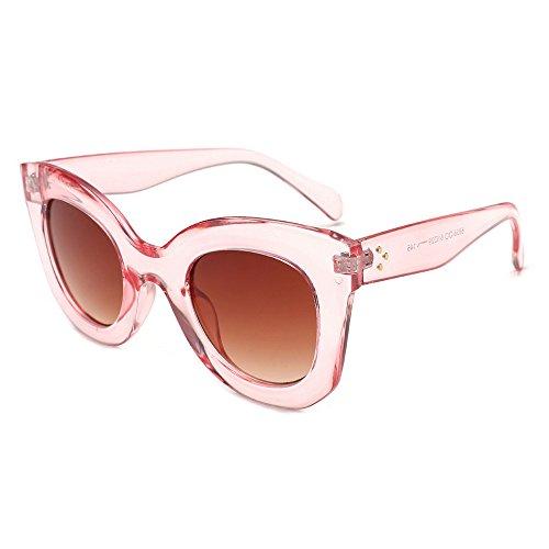 HCFKJ Sonnenbrillen für Frauen Männer mode Vintage Cateye Frame Shades Acetate Frame UV-Brillen Sonnenbrillen