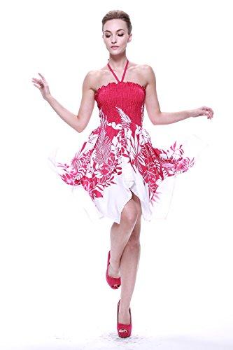 Vestido-gitano-Vestido-hawaiano-Vestido-Luau-Vestido-de-hada-en-Indri-Rosa