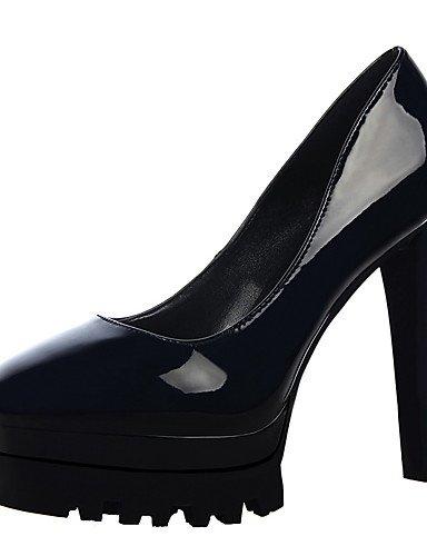 GS~LY Da donna-Tacchi-Formale-Tacchi / A punta / Chiusa-A stiletto-Finta pelle-Nero / Rosso / Bianco / Argento / Fucsia / Carne silver-us7.5 / eu38 / uk5.5 / cn38