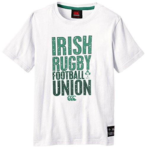 Canterbury Rugby IRFU Stacked T-Shirt-Irland Weiß weiß 10 Jahre