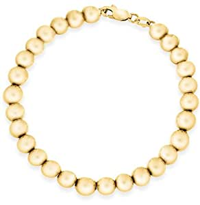 Carissima Gold 9 ct Yellow Gold 6 mm Ball Bracelet of Length 19 cm/7.5 inch