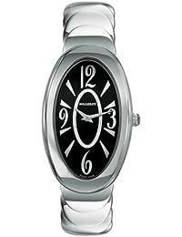 Milleret - 1030-11-611-11A - Anaconda - Montre Femme Acier - Quartz Analogique - Cadran Noir Laqué - Bracelet Acier