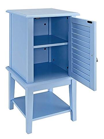 Door Table in Ocean Blue Finish