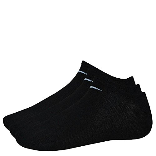 9 Paar NIKE Sneaker-Socken NO Show schwarz L (42-46) SX2554-001 (Herren-socken Cut Low)