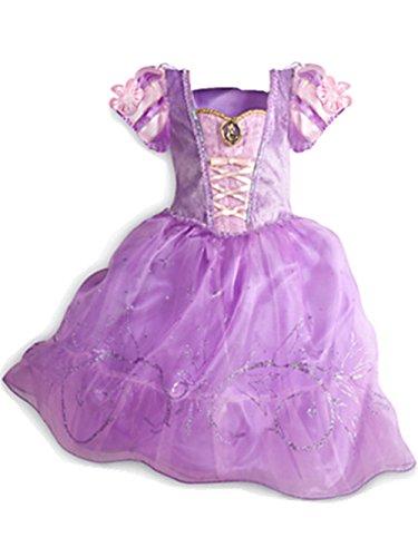 Ninimour Prinzessin Kleid Grimms Märchen Kostüm Cosplay Mädchen Halloween Kostüm Violett#3, (Winter Prinzessin Kostüme)